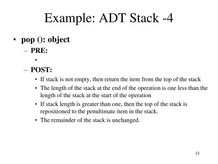 Example: ADT Stack -4