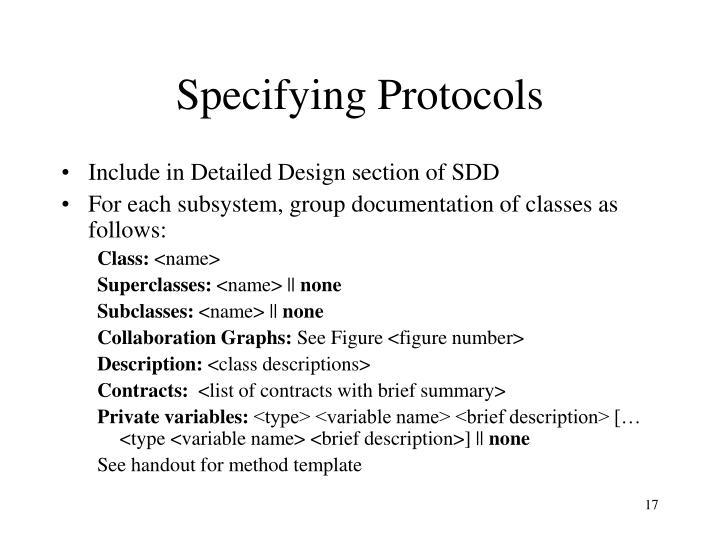 Specifying Protocols