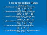 6 decomposition rules memorize these