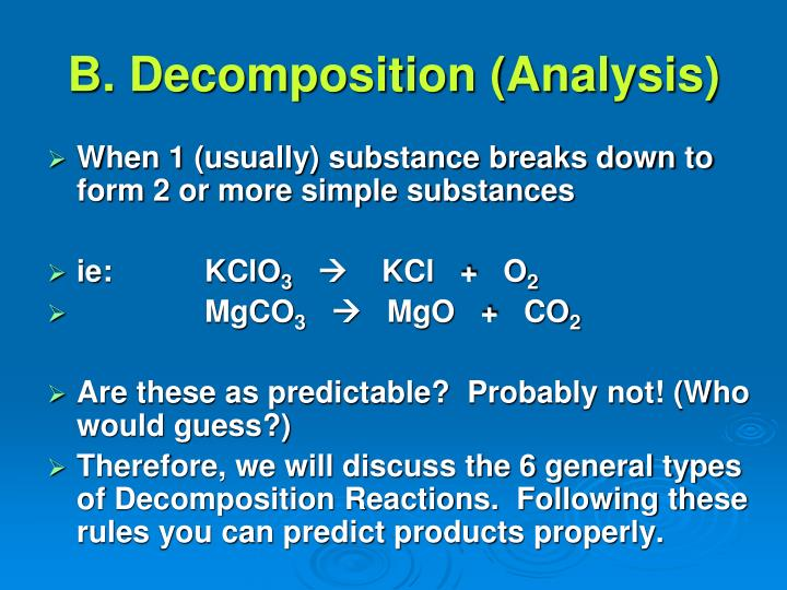 B. Decomposition (Analysis)