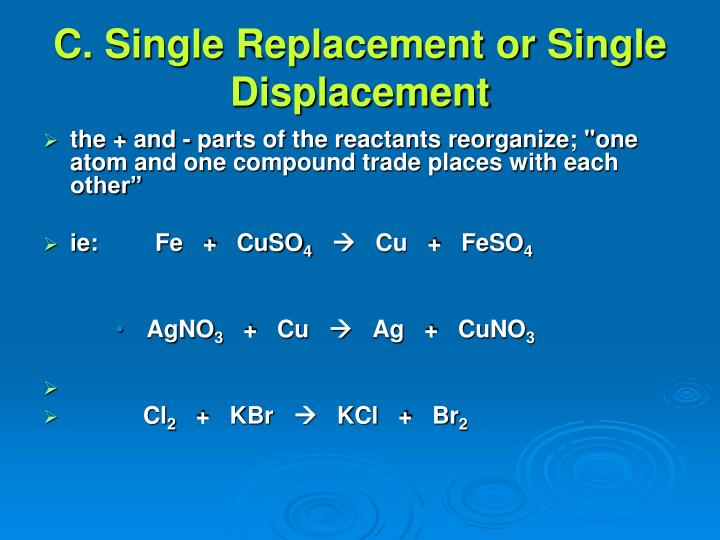 C. Single Replacement or Single Displacement