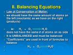 ii balancing equations