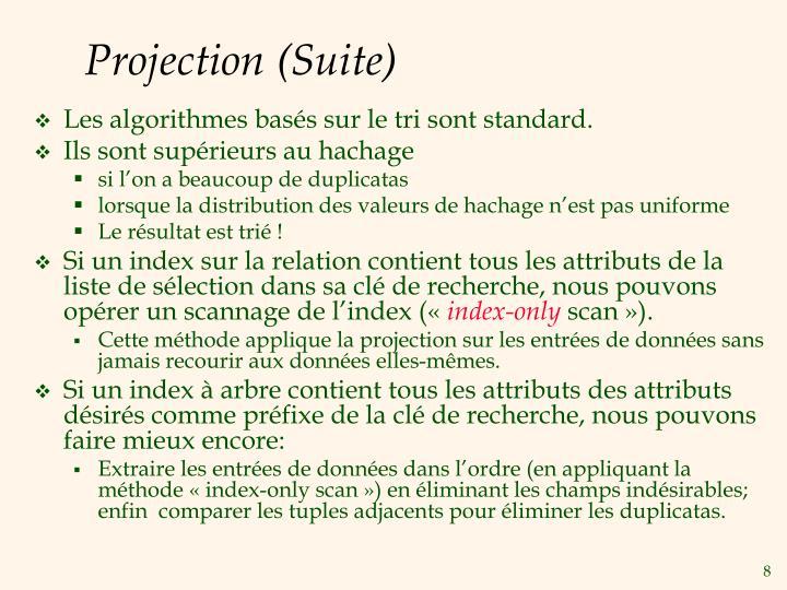 Projection (Suite)