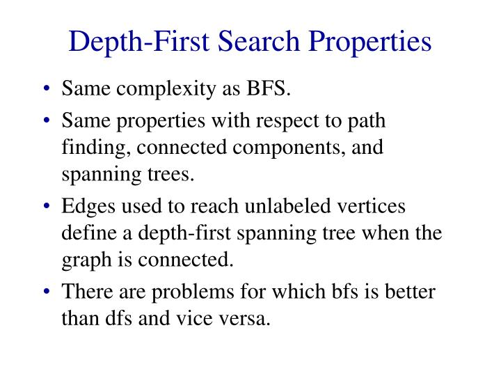 Depth-First Search Properties