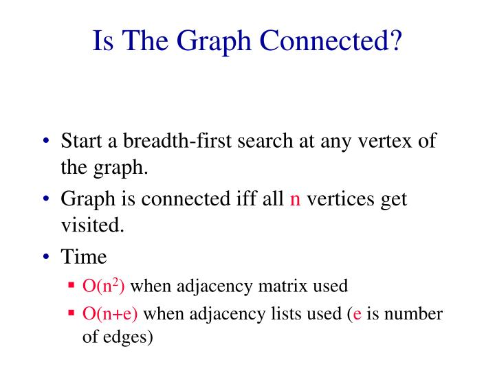 Is The Graph Connected?