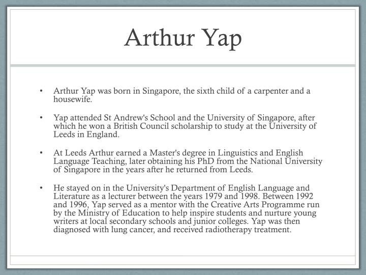 Arthur Yap
