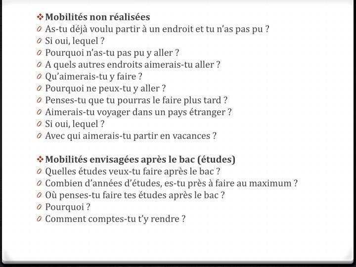 Mobilités non