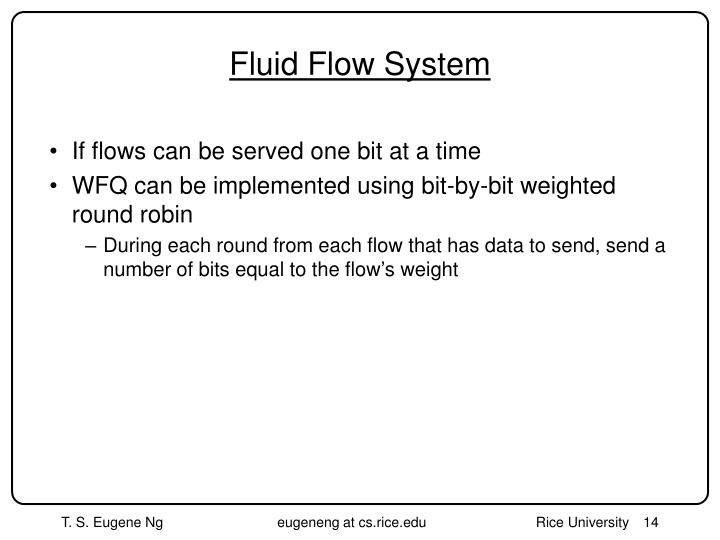 Fluid Flow System