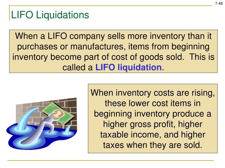 LIFO Liquidations