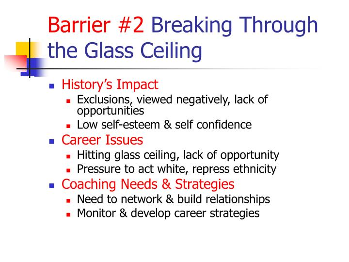 A history of the glass ceiling commission barrier in organizations