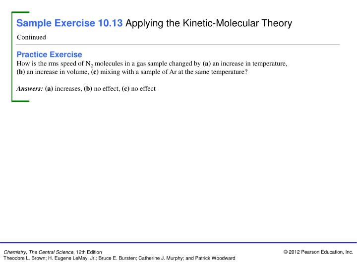 Sample Exercise 10.13