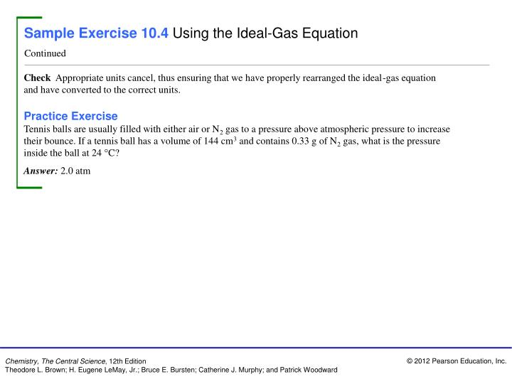 Sample Exercise 10.4