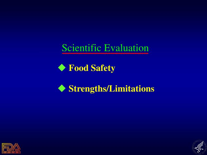 Scientific Evaluation