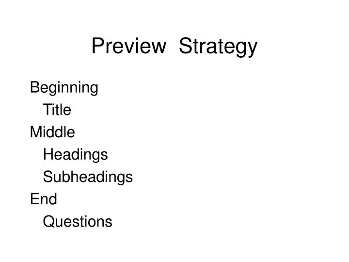 Preview  Strategy