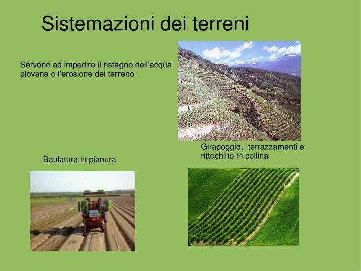 Sistemazioni dei terreni