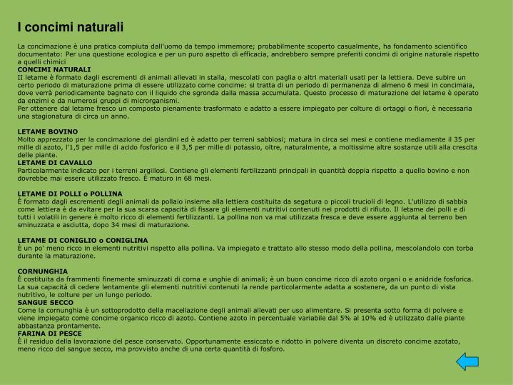 I concimi naturali