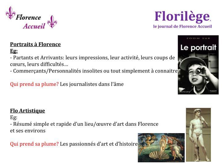 Portraits à Florence