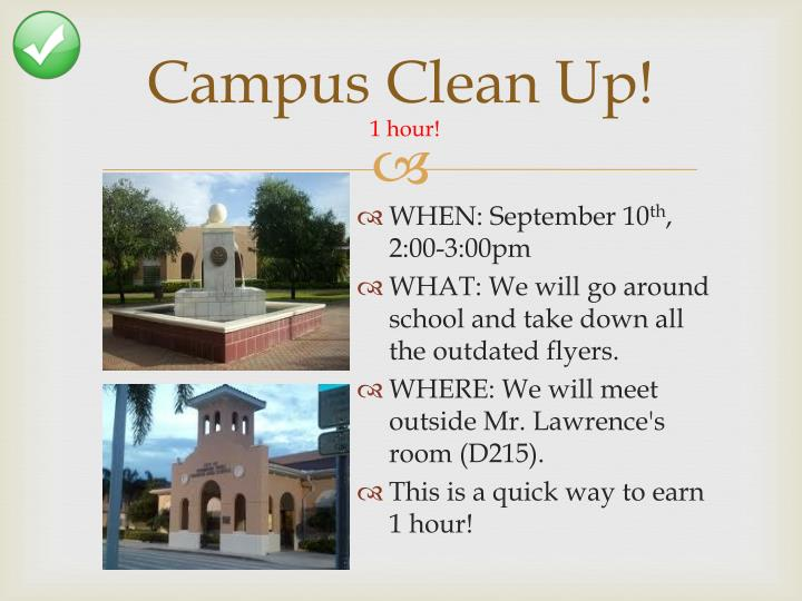 Campus Clean Up!