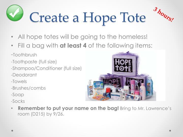 Create a Hope Tote