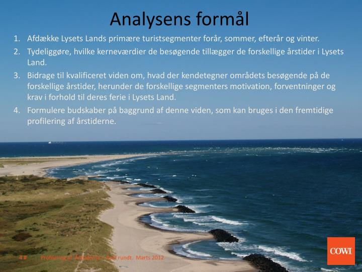 Analysens formål