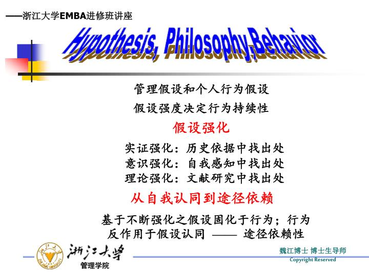 Hypothesis, Philosophy,Behavior