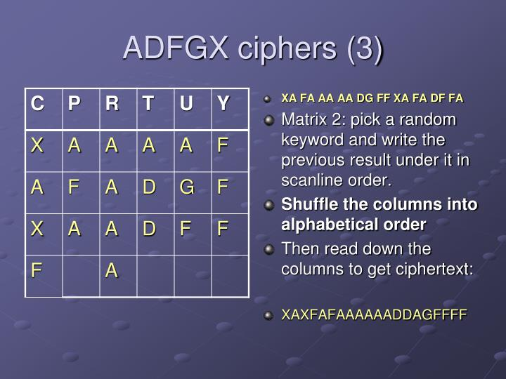 ADFGX ciphers (3)