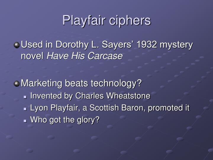 Playfair ciphers
