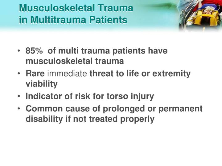 Musculoskeletal trauma in multitrauma patients