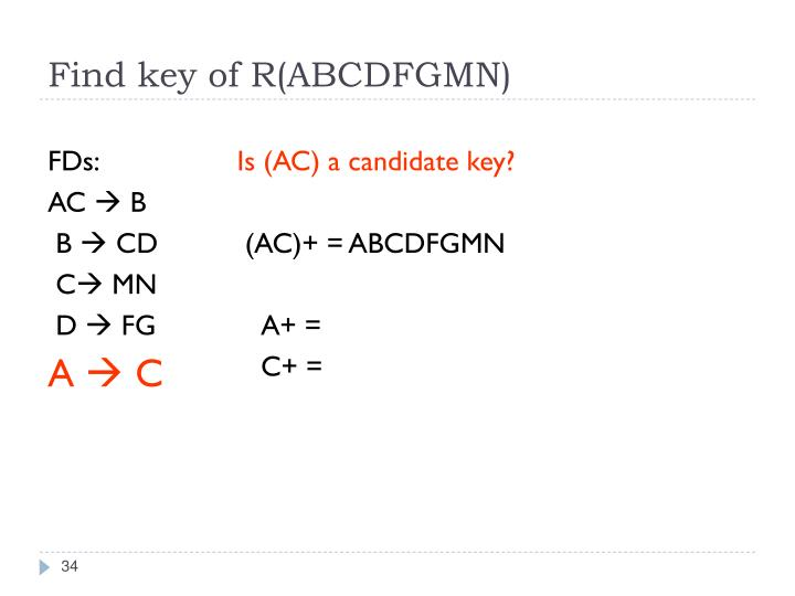 Find key of R(ABCDFGMN)