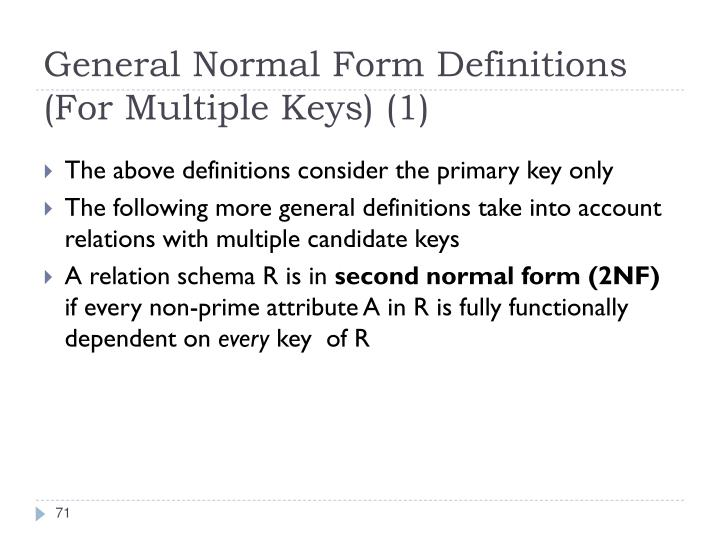 General Normal Form Definitions (For Multiple Keys) (1)