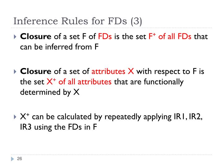 Inference Rules for FDs (3)