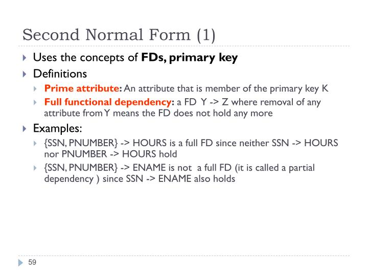 Second Normal Form (1)