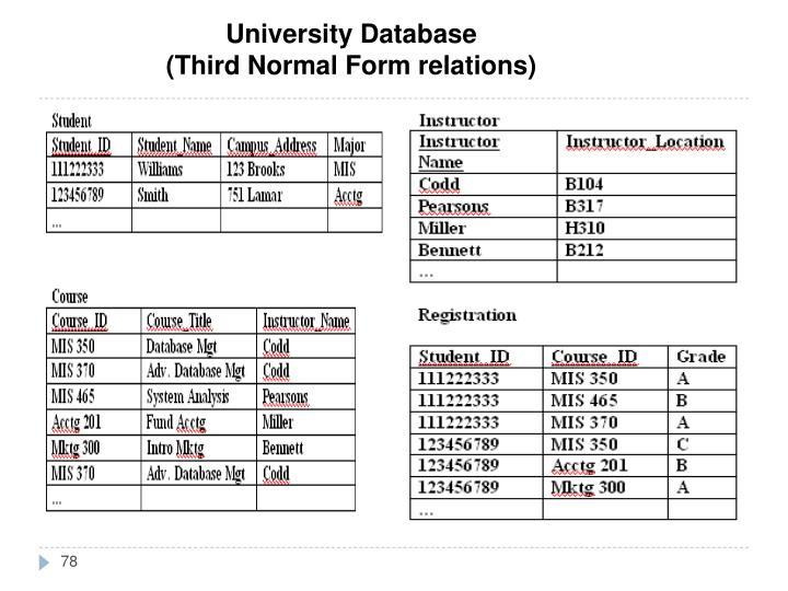 University Database