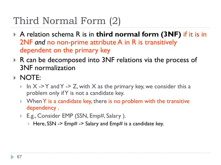 Third Normal Form (2)