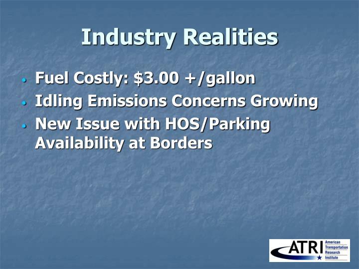 Industry Realities
