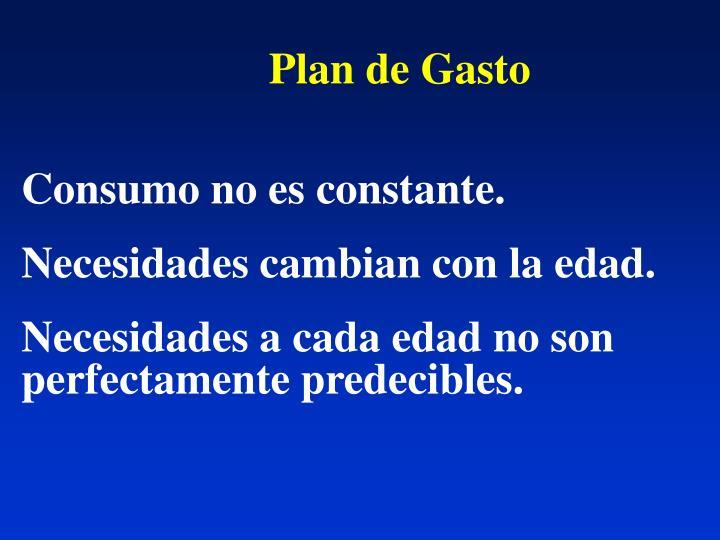 Plan de Gasto