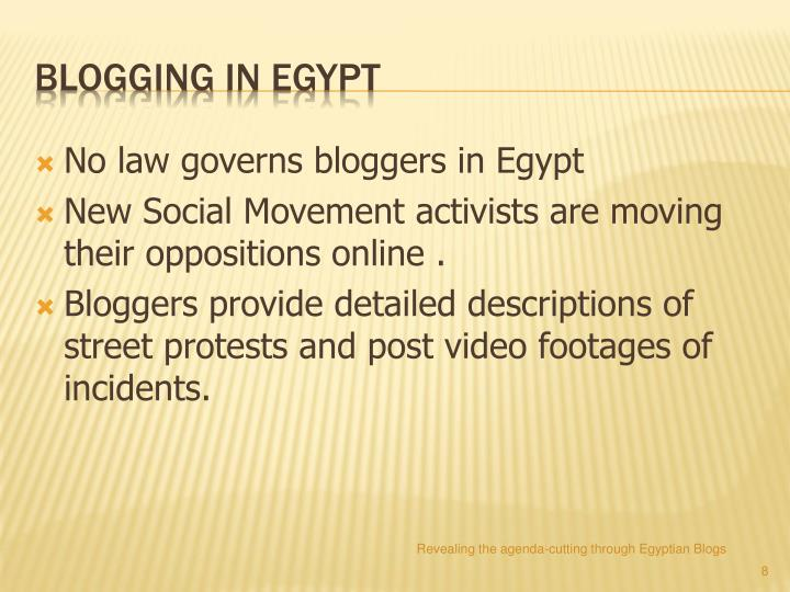 No law governs bloggers in Egypt