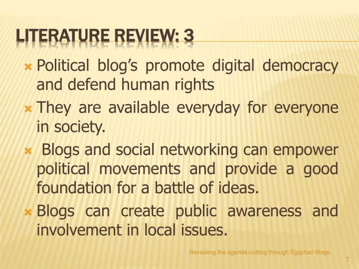 Political blog's promote digital democracy and defend human rights