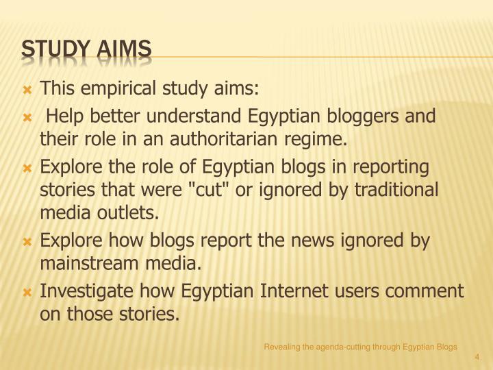 This empirical study aims: