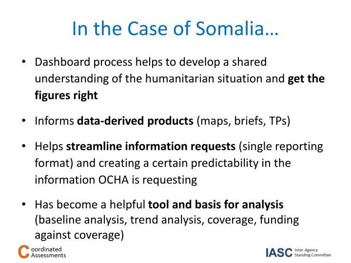 In the Case of Somalia…
