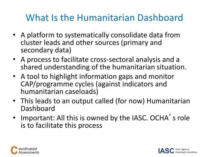 What Is the Humanitarian Dashboard