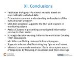 xi conclusions