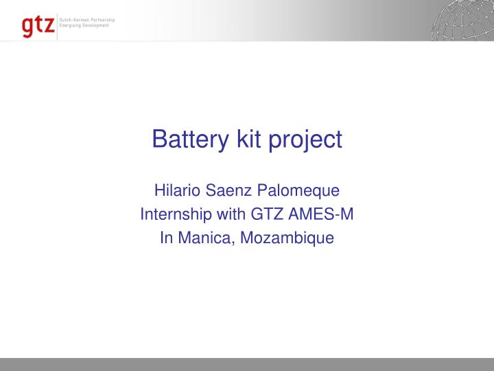 Battery kit project