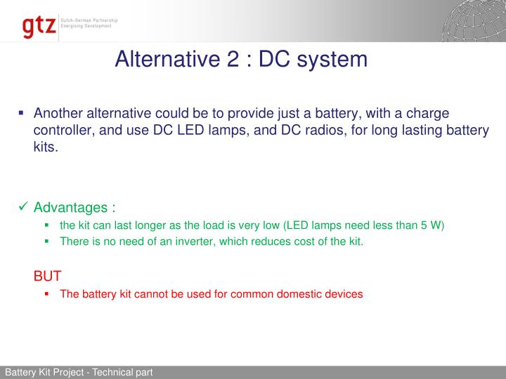 Alternative 2 : DC system