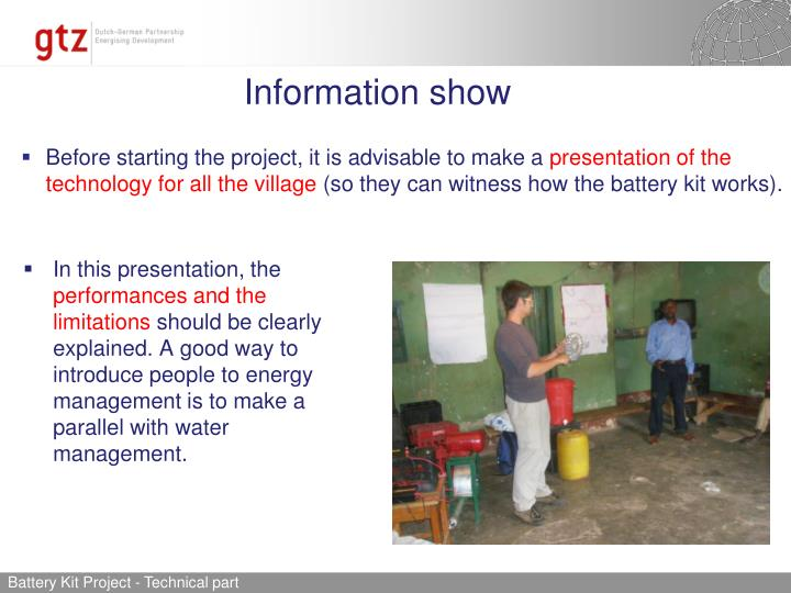 Information show