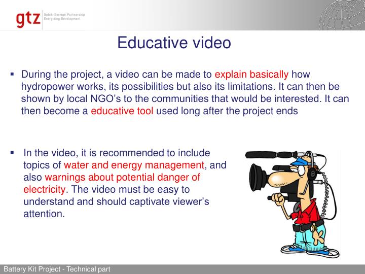 Educative video