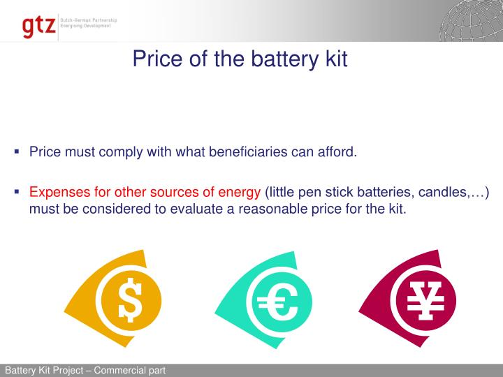 Price of the battery kit