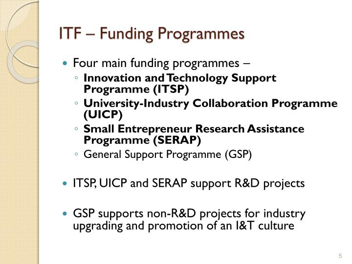 ITF – Funding