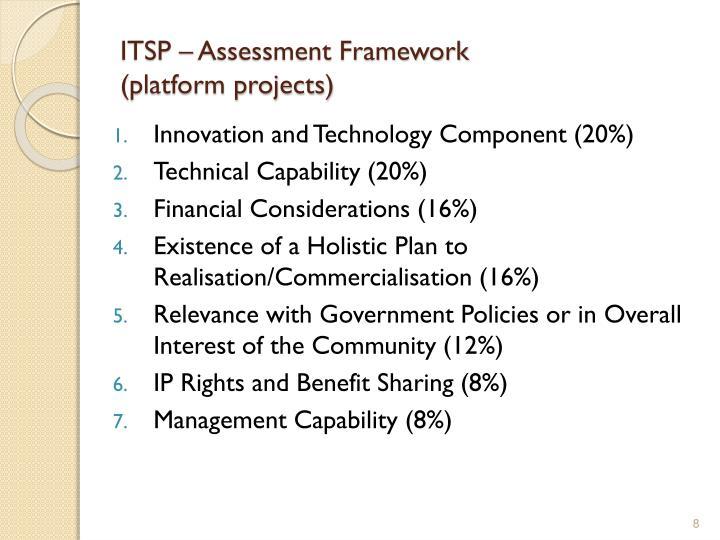 ITSP – Assessment Framework
