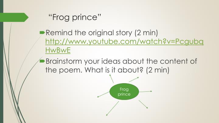 """""""Frog prince"""""""